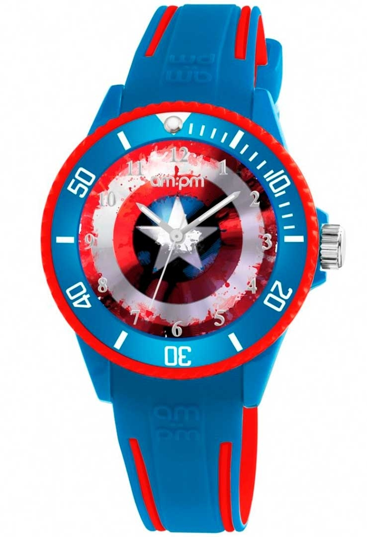 Image of   AM:PM Captain America Børneur MP187-U621