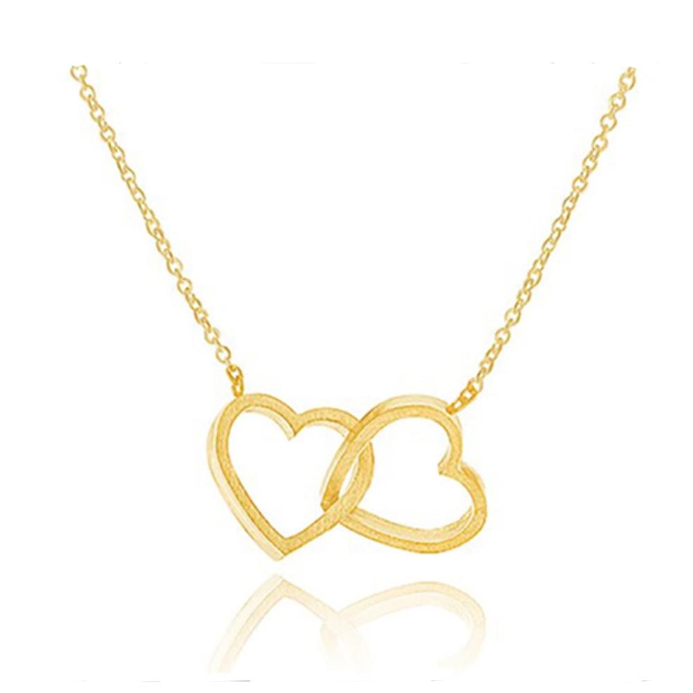 Image of   Armbånd i guld med hjerter