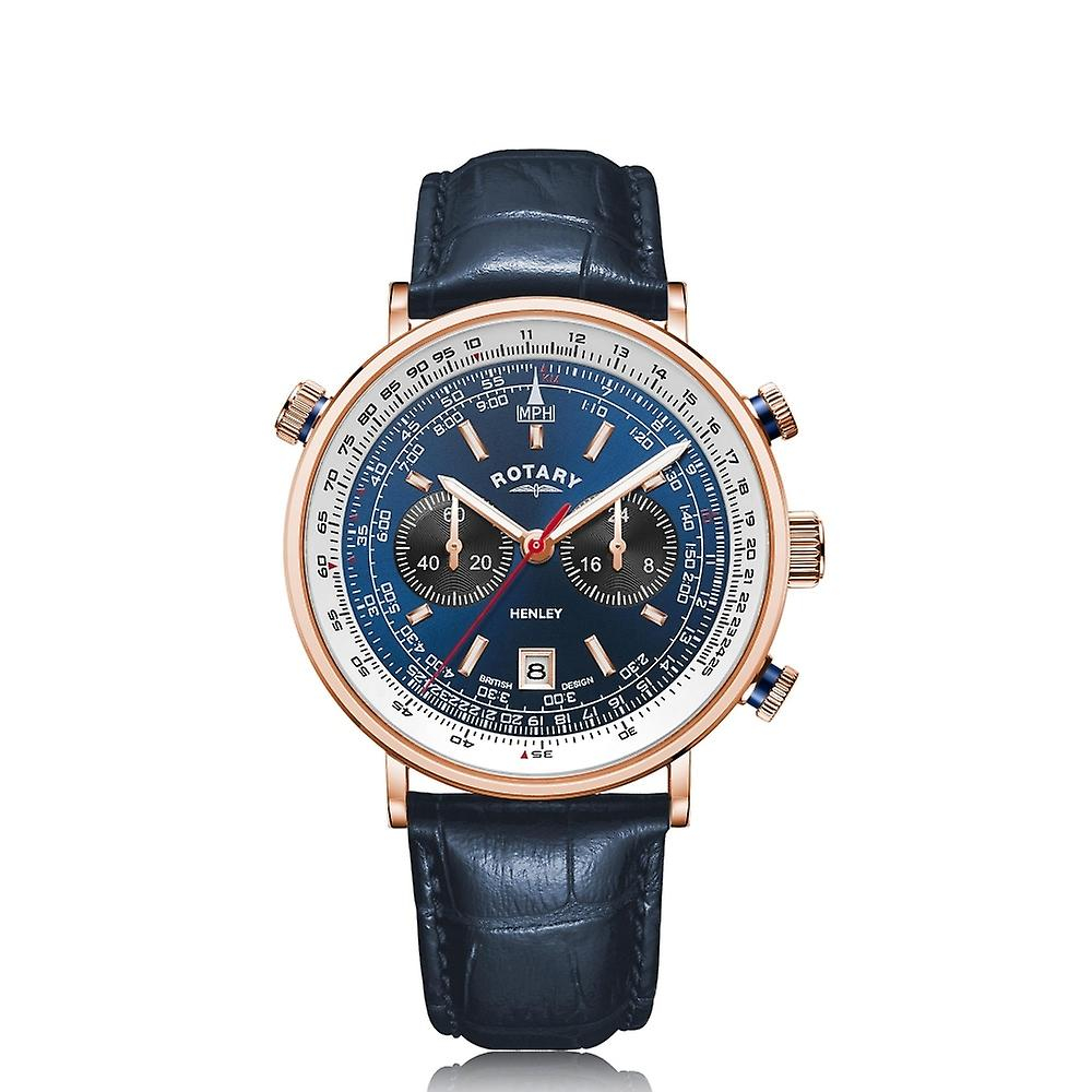 Image of   Rotary Henley Rose Gold PVD Watch GS05237/05