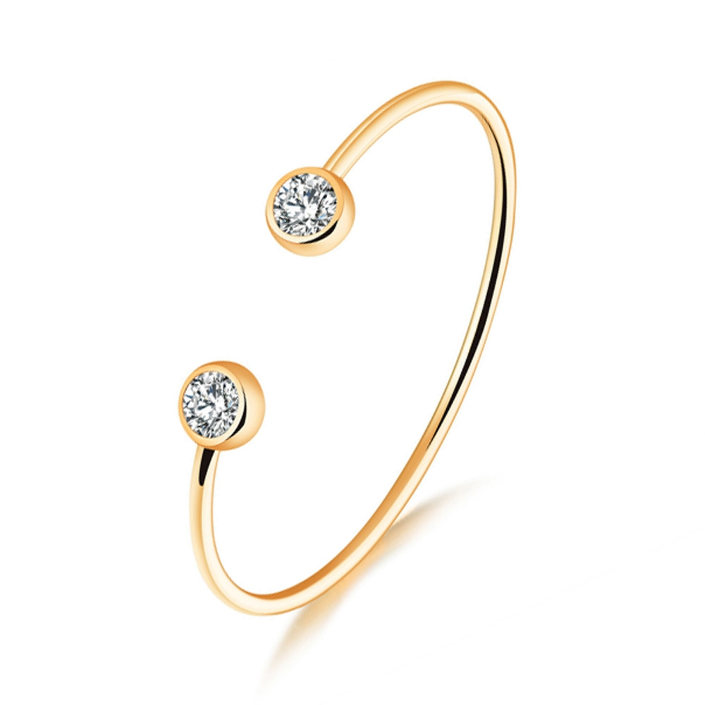Image of   Elegant armbånd i guld med sten