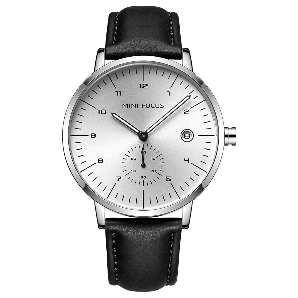 Image of   Megir Mini Focus Leather Black/Steel