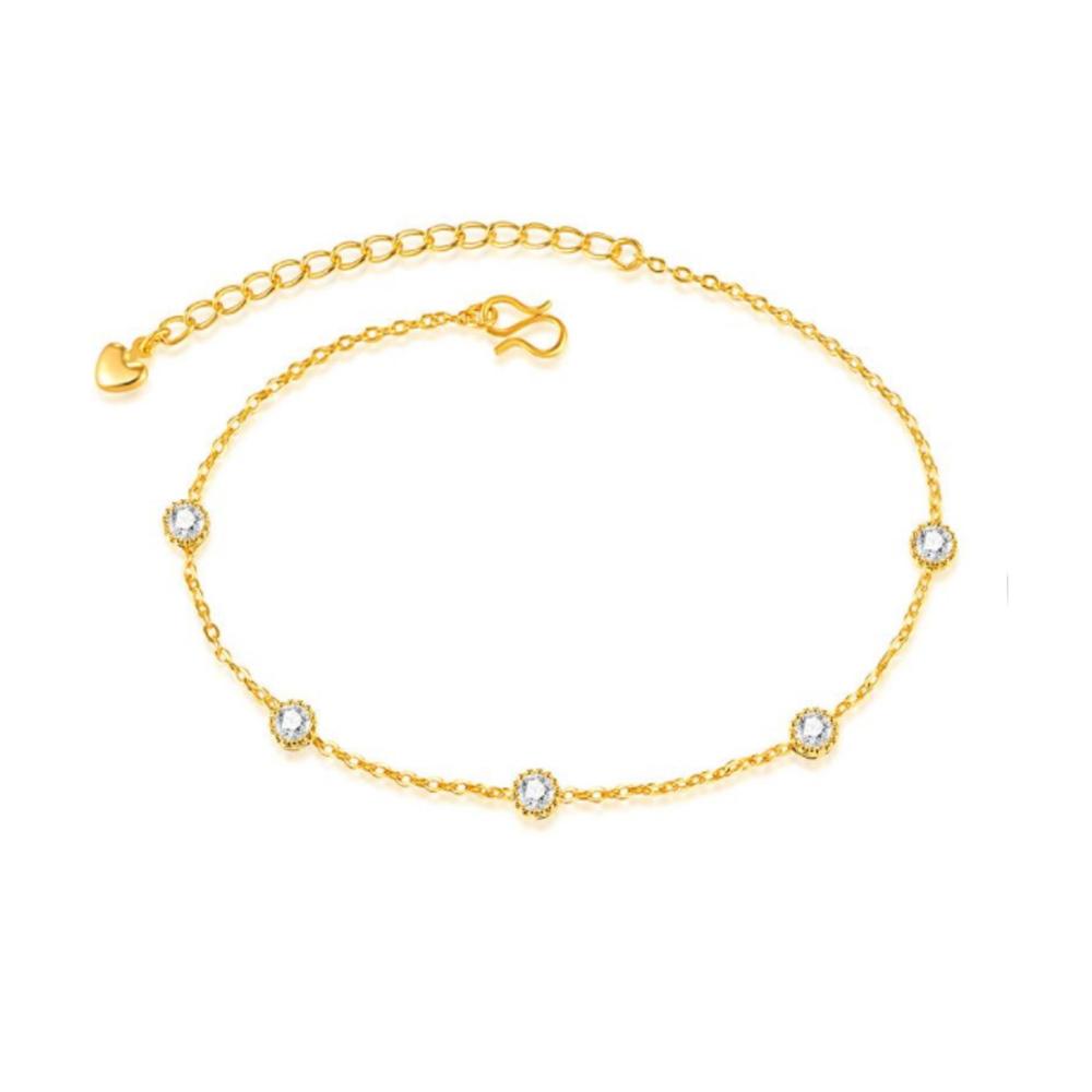 Image of   Guld armbånd med sten