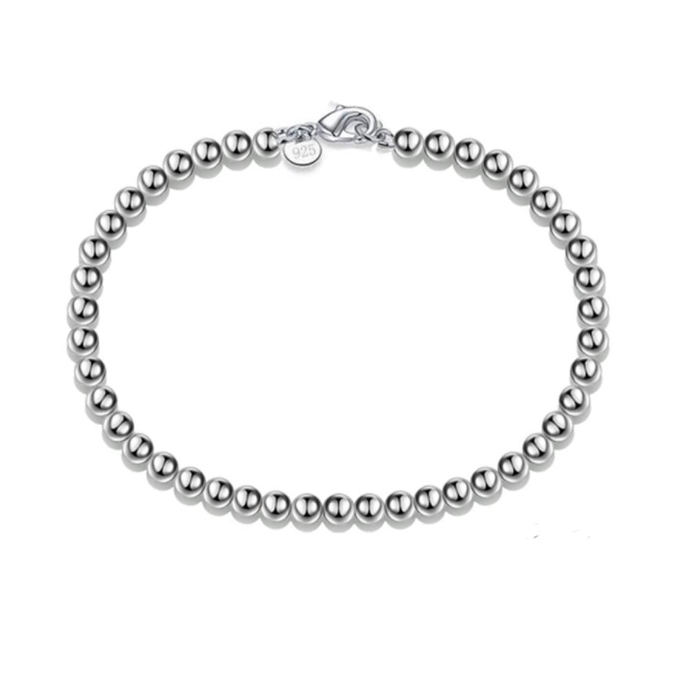 Image of   Armbånd med stål perler