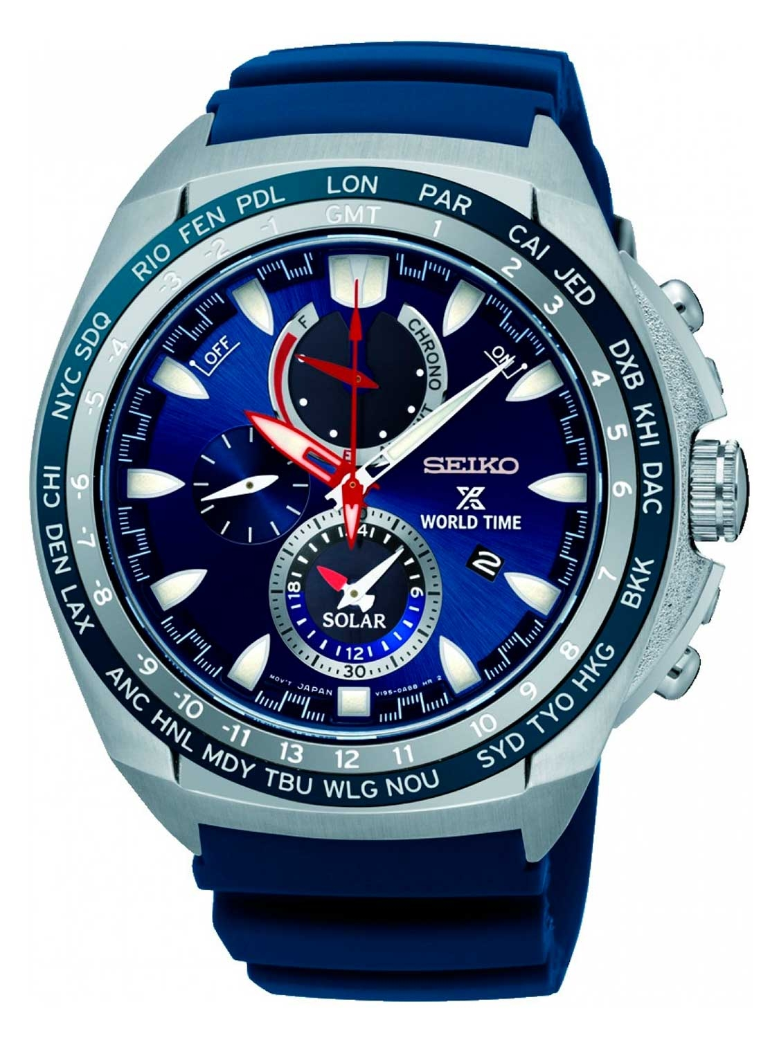 Image of   Seiko Prospex Solar World Time SSC489P1
