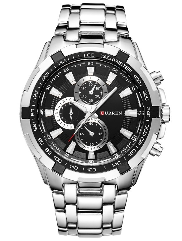 Image of   Curren Tachymeter Steel/Black