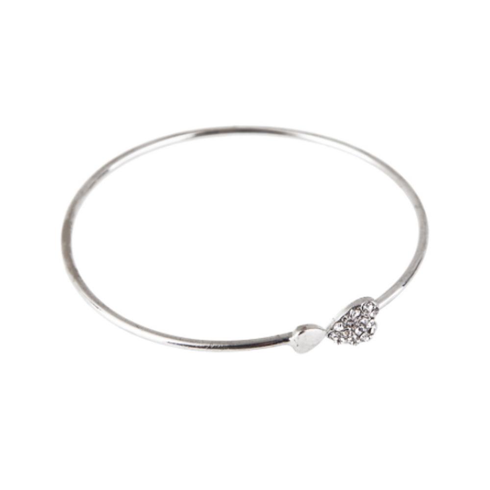 Image of   Armring i sølv med sten