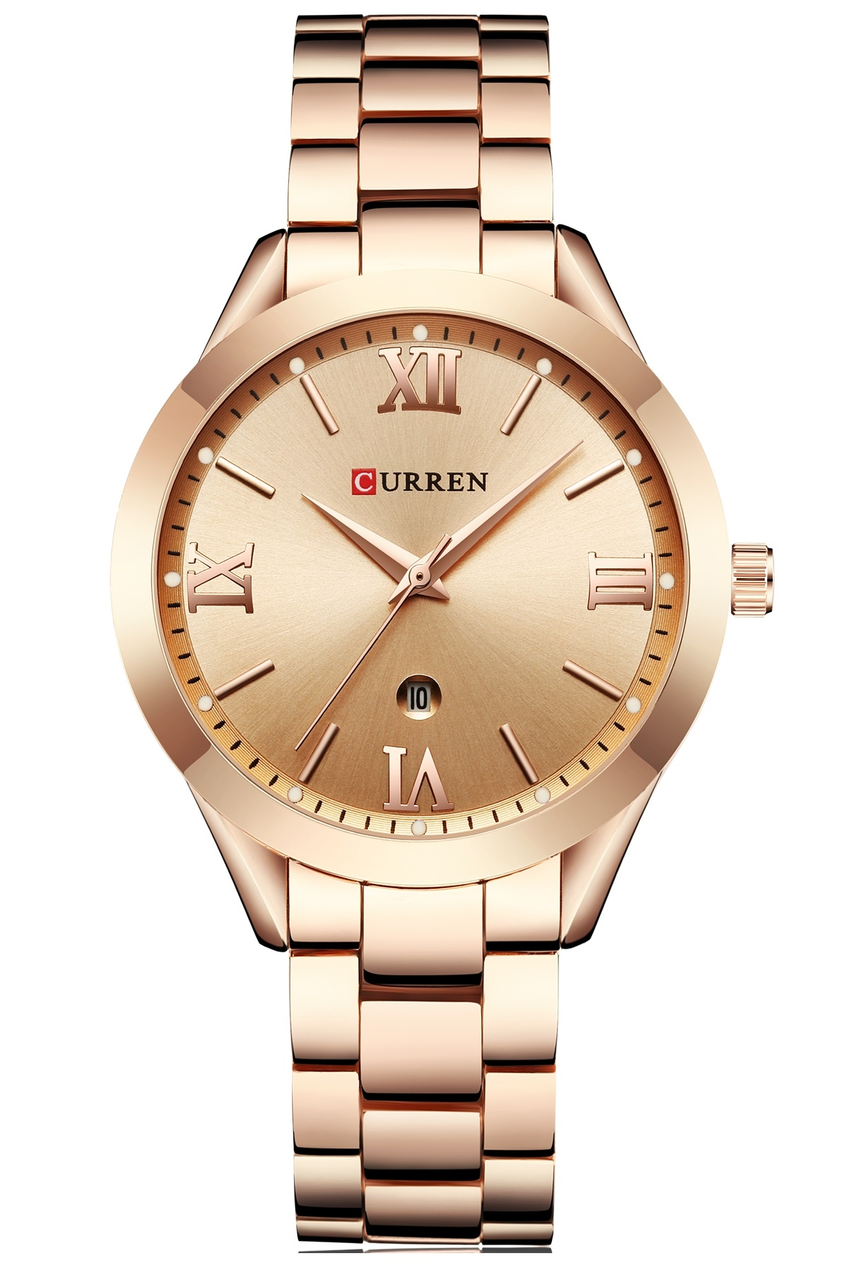 Image of   Curren Ladies Steel Gold/Gold