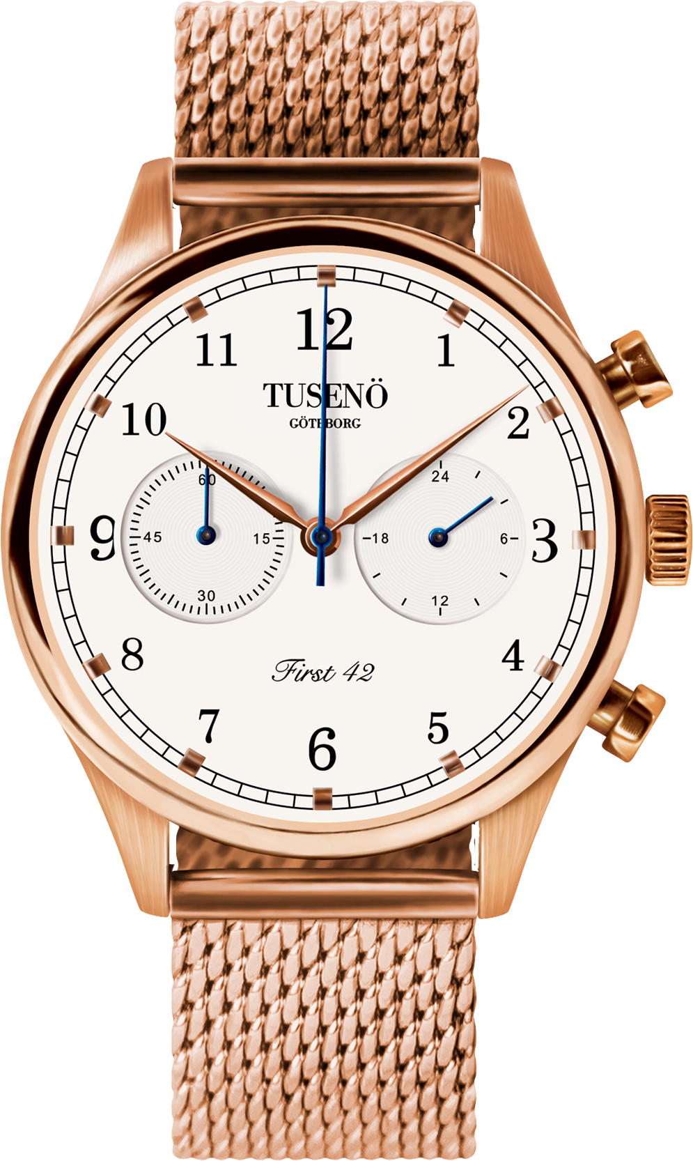 Image of   Tusenö FIRST 42 ROSE GOLD/WHITE MESH lænke