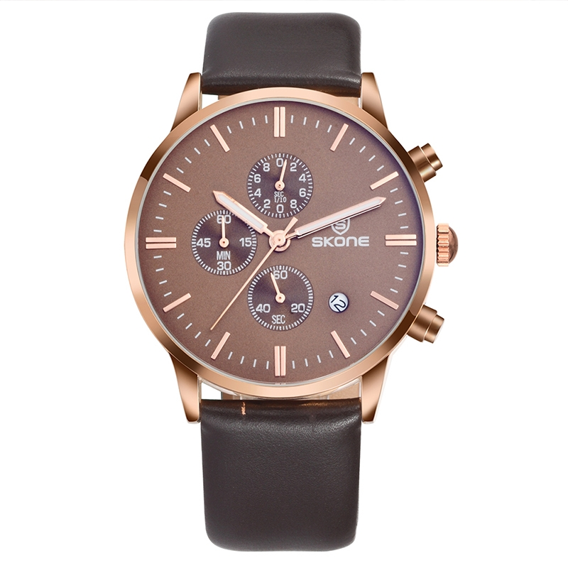 Skone Chrono Leather Brown