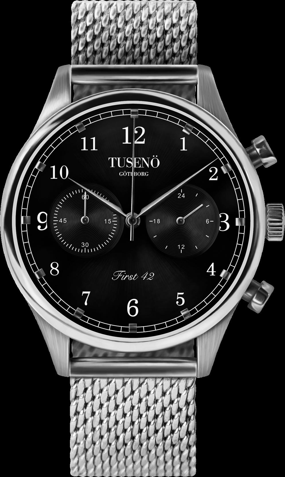 Image of   Tusenö TFIRST 42 SILVER/BLACK MESH Lænke