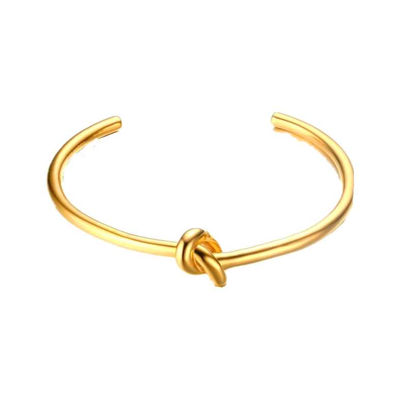 Image of   Cuff armbånd knot gold