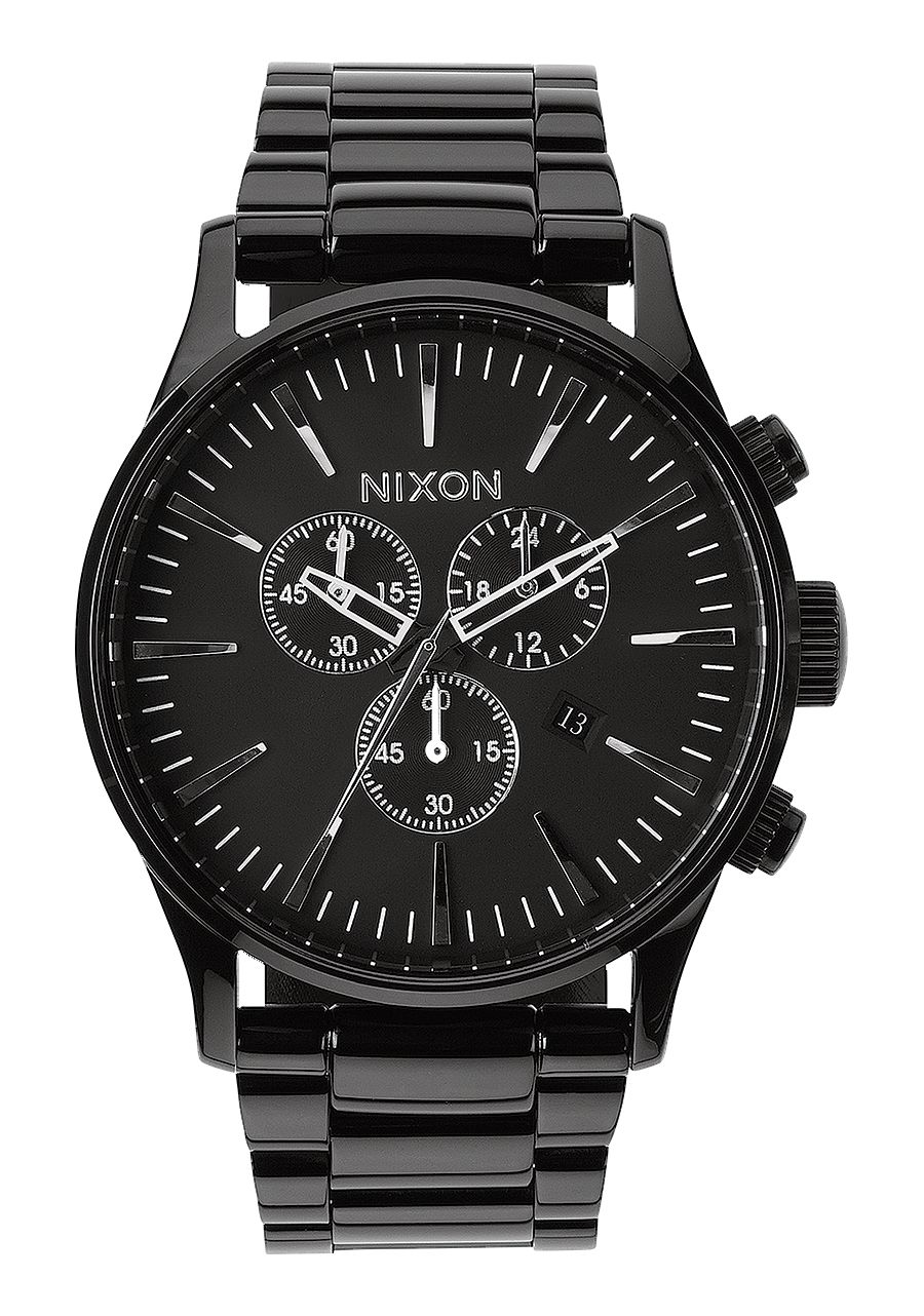 Image of   Nixon Sentry Chrono All Black