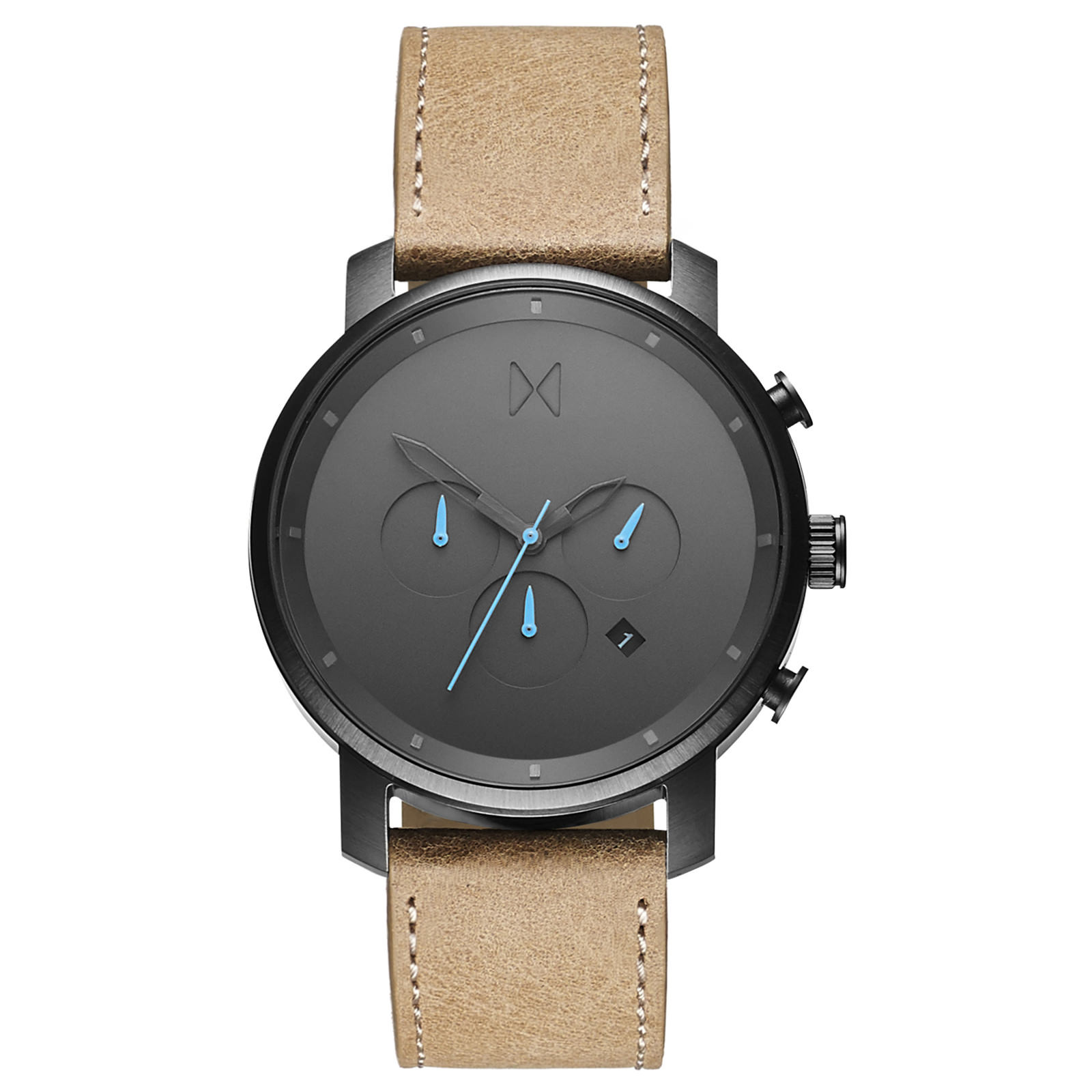 Image of   MVMT Chrono Gunmetal/Sandstone Leather