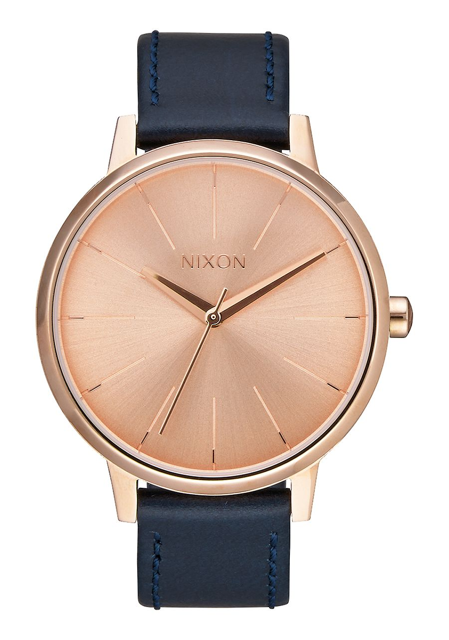 Image of   Nixon Kensington Leather Rose Gold/Navy
