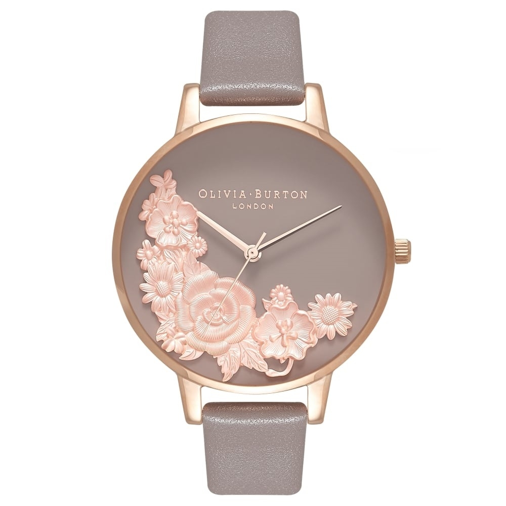 Image of   Olivia Burton Floral Bouquet London Grey & Rose Gold