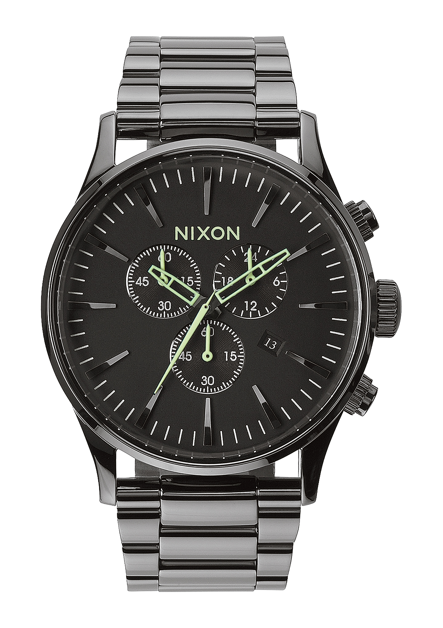 Image of   Nixon Sentry Chrono Polished Gunmetal/Lum