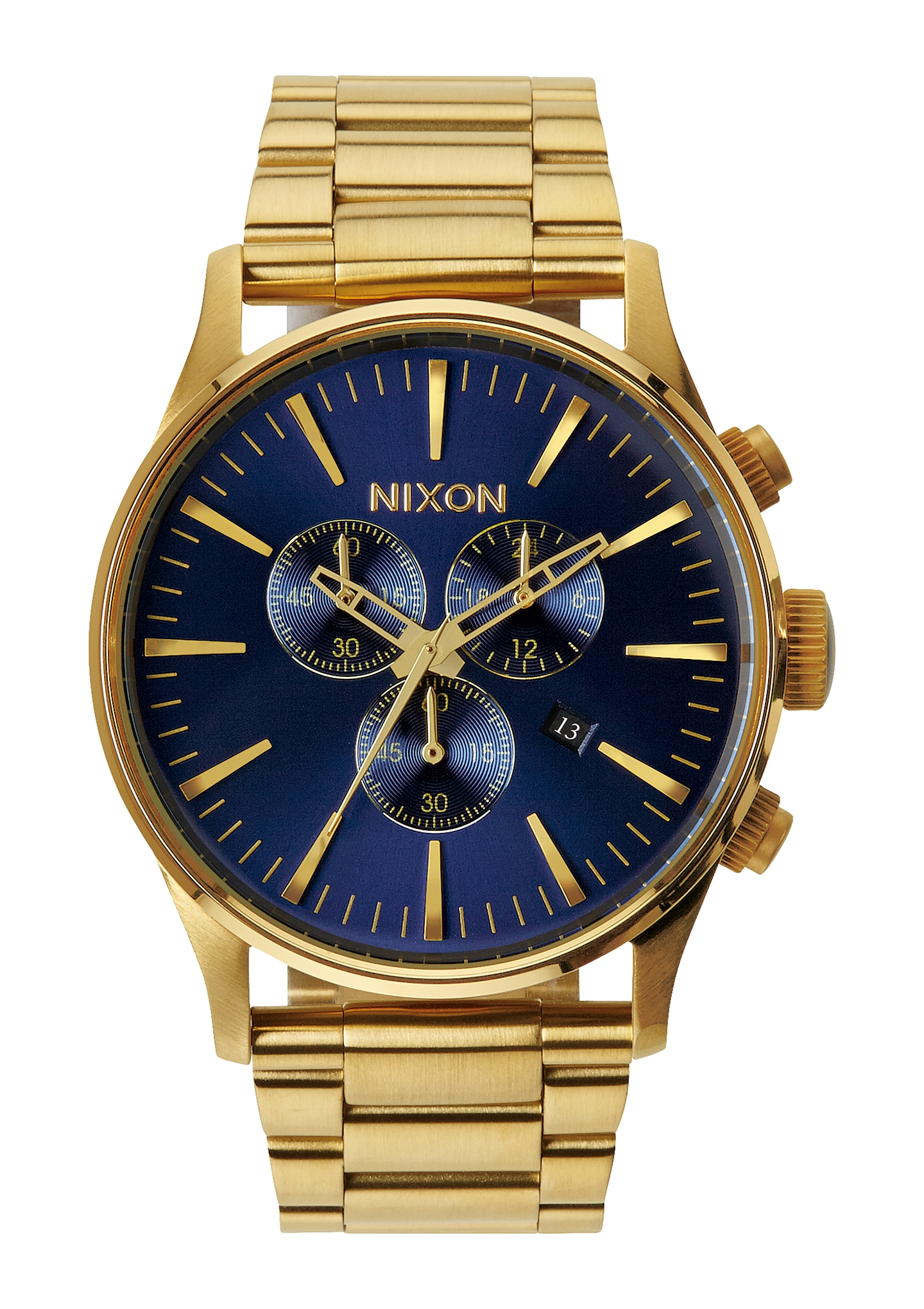 Image of   Nixon Sentry Chrono Gold/Blue Sunray