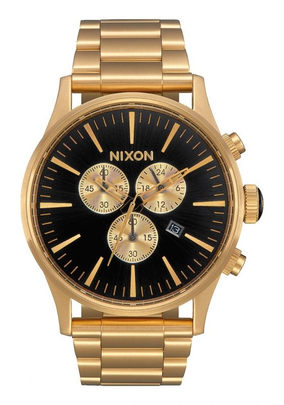 Image of   Nixon Sentry Chrono All Gold/Black