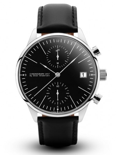 Image of   About Vintage 1844 Chronograph Steel Black