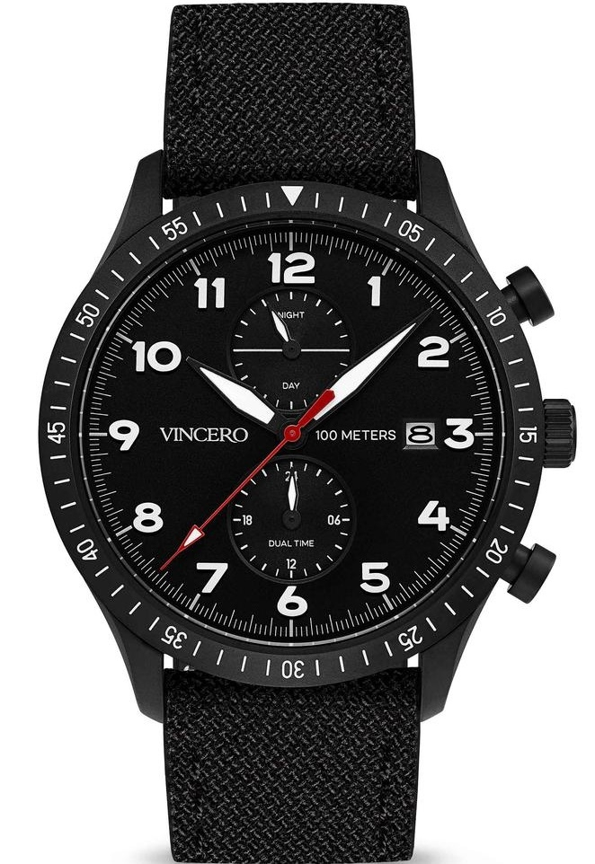 Image of   Vincero The Altitude Matte Black/Red