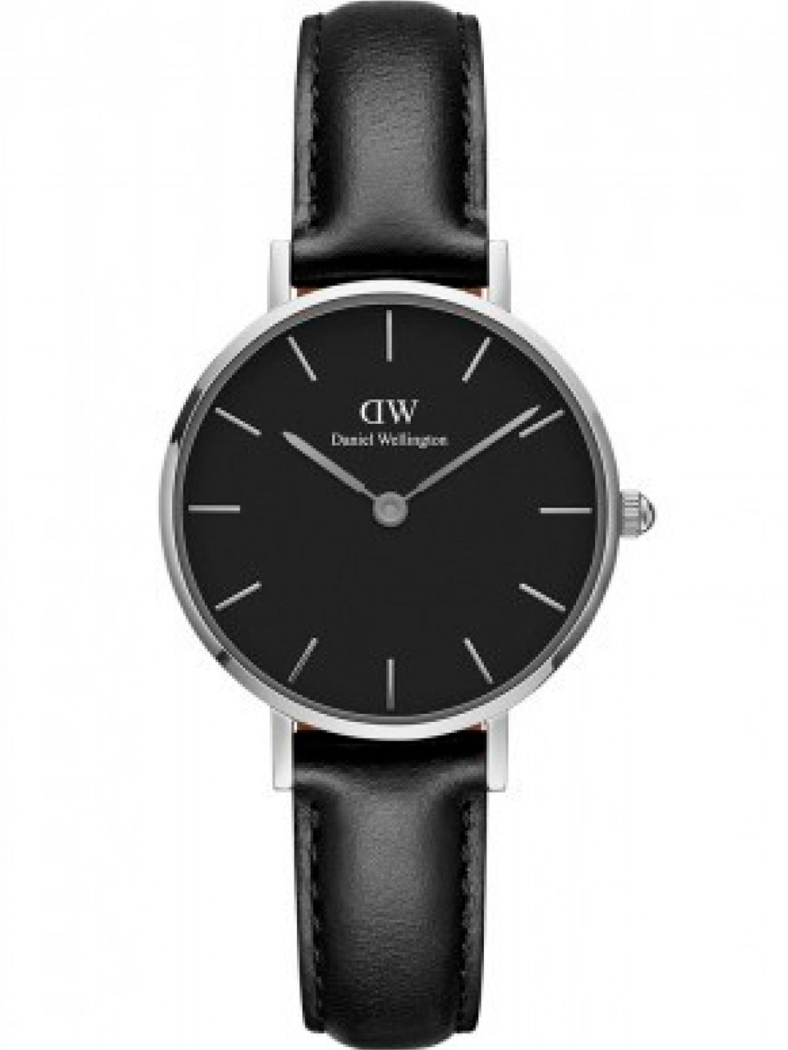 Image of   Daniel Wellington Classic Petite 28 Sheffield Steel Black