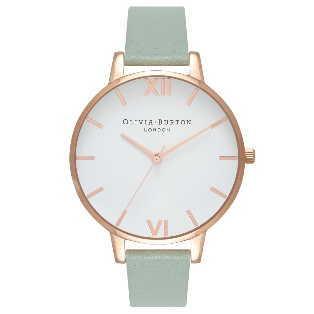 Image of   Olivia Burton Big Dial Mint And Rose Gold