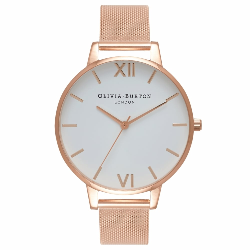 Image of   Olivia Burton Big Dial Rose Gold Mesh