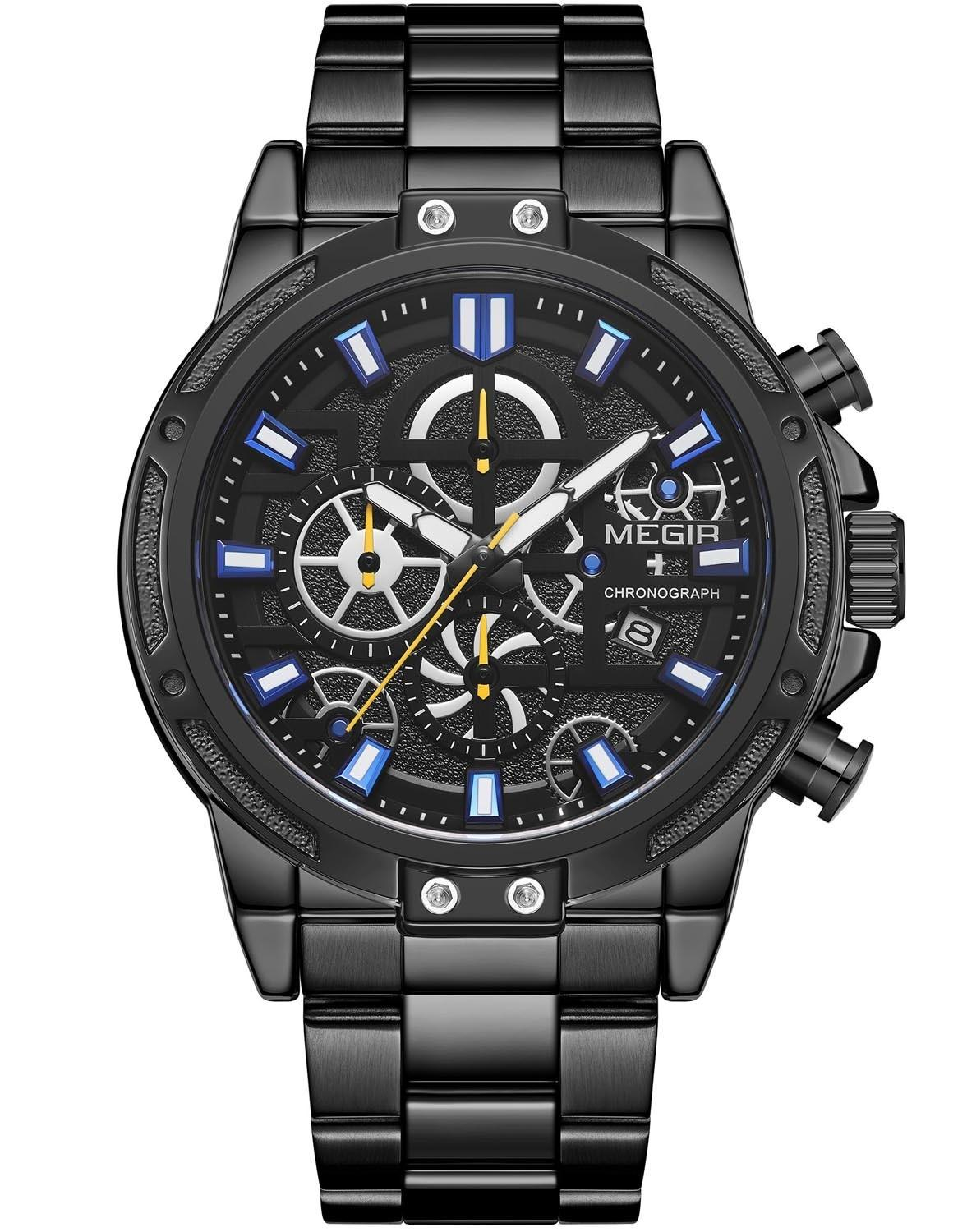 Image of   Megir Chrono Steel MS2108G-BK-1