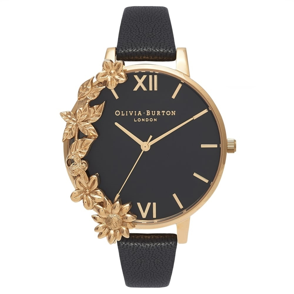 Image of   Olivia Burton Case Cuff Black Dial & Gold
