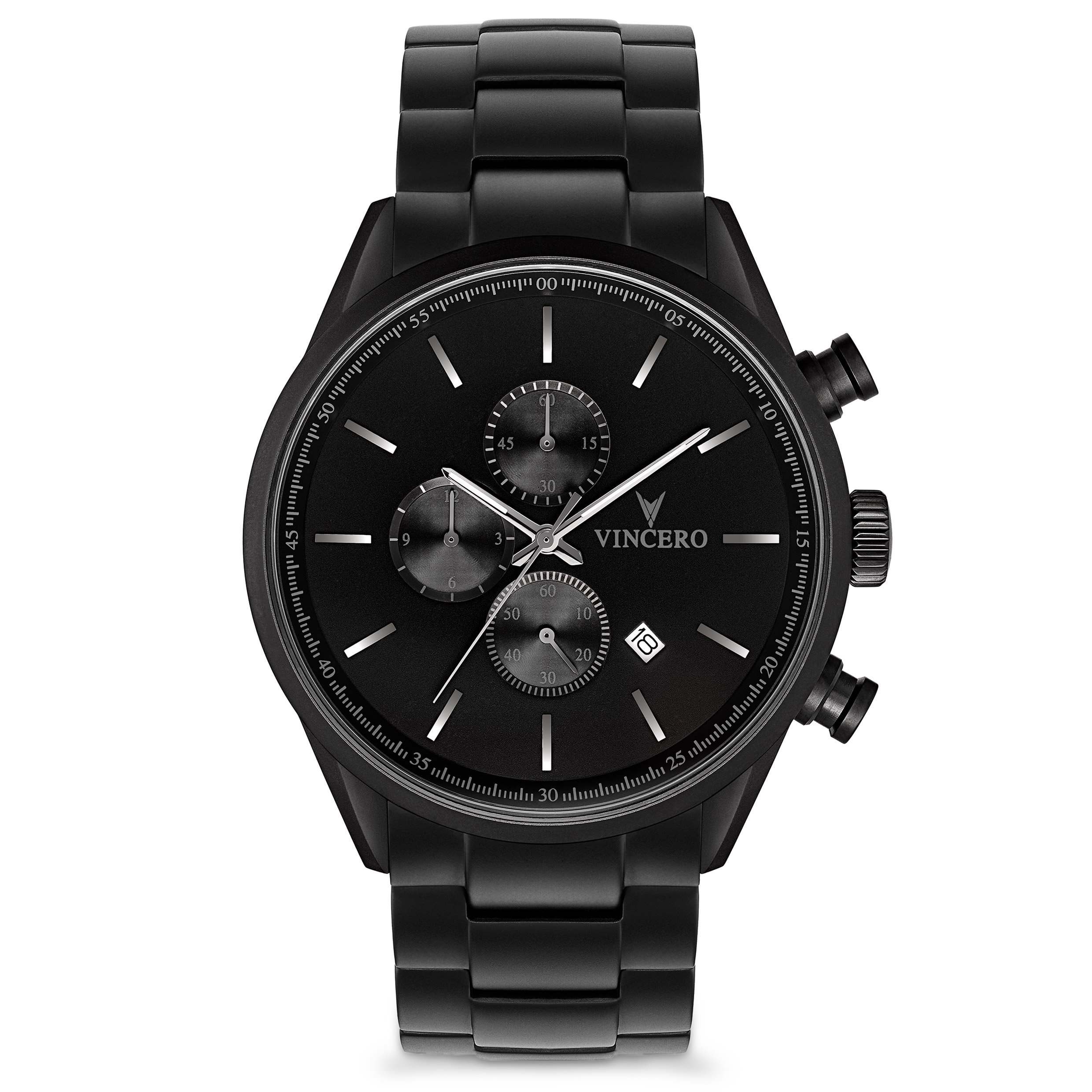 Vincero The Chrono S Black Steel