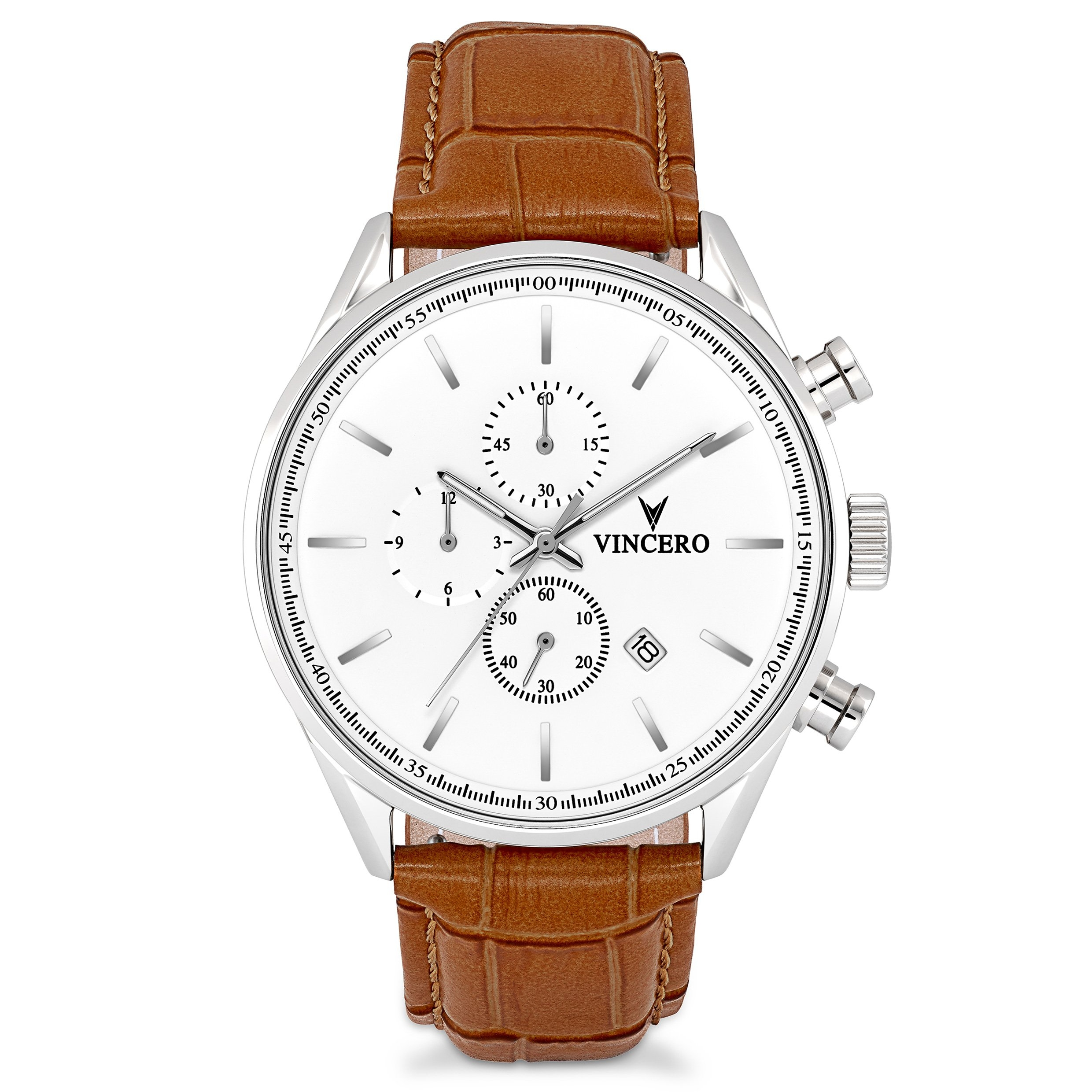 Image of   Vincero Chrono S Silver Tan