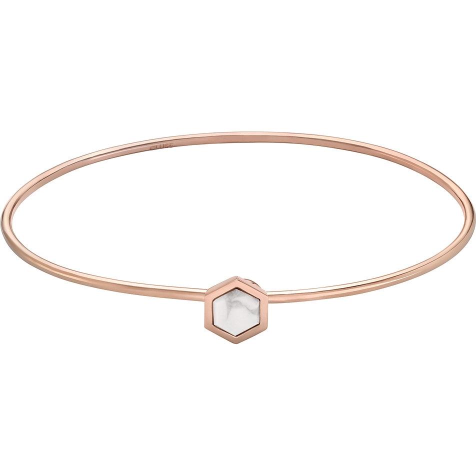 Cluse Idylle Gold Marble Hexagon Bracelet