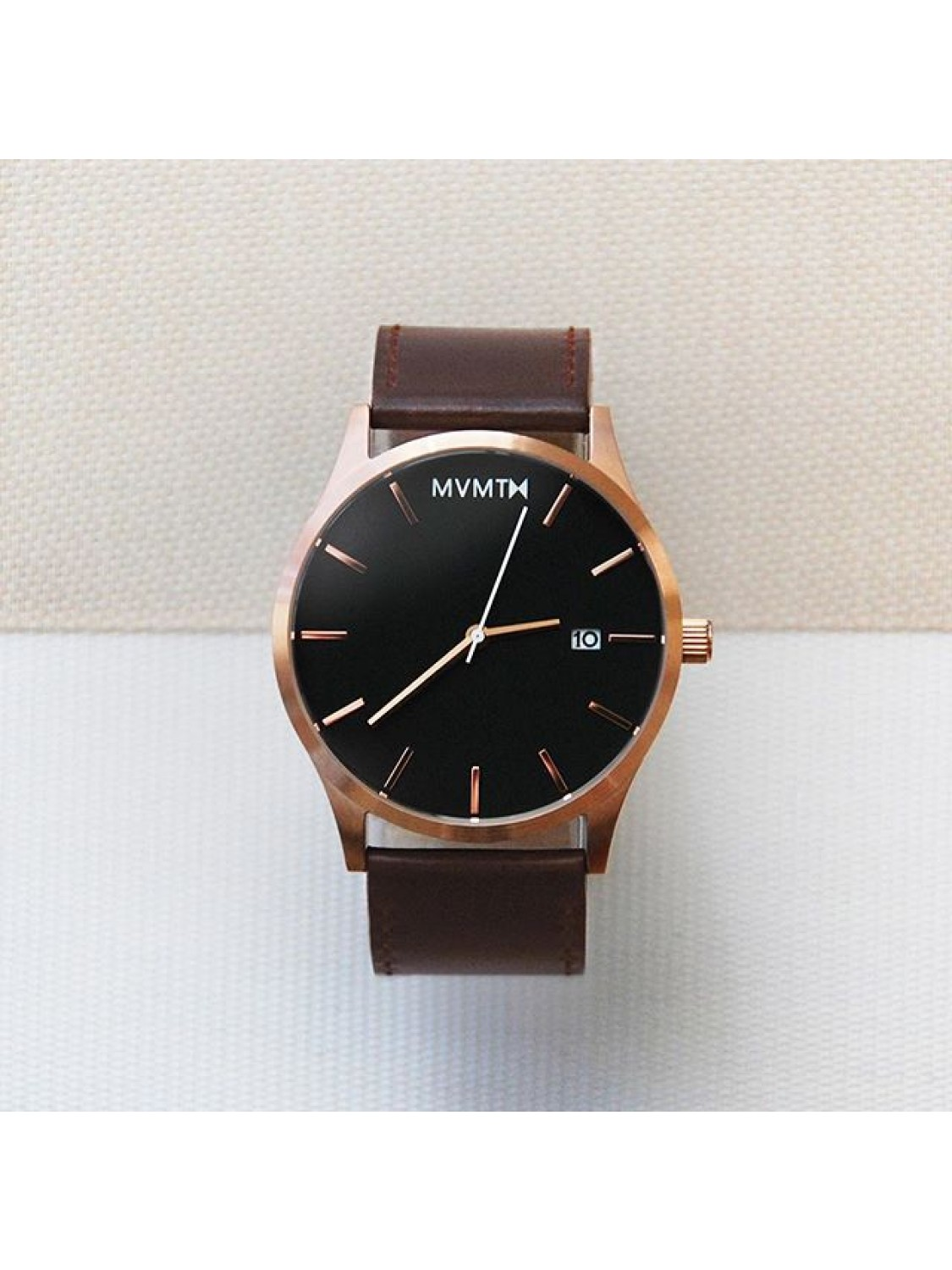 MVMT Rosegold / Brown Leather-00
