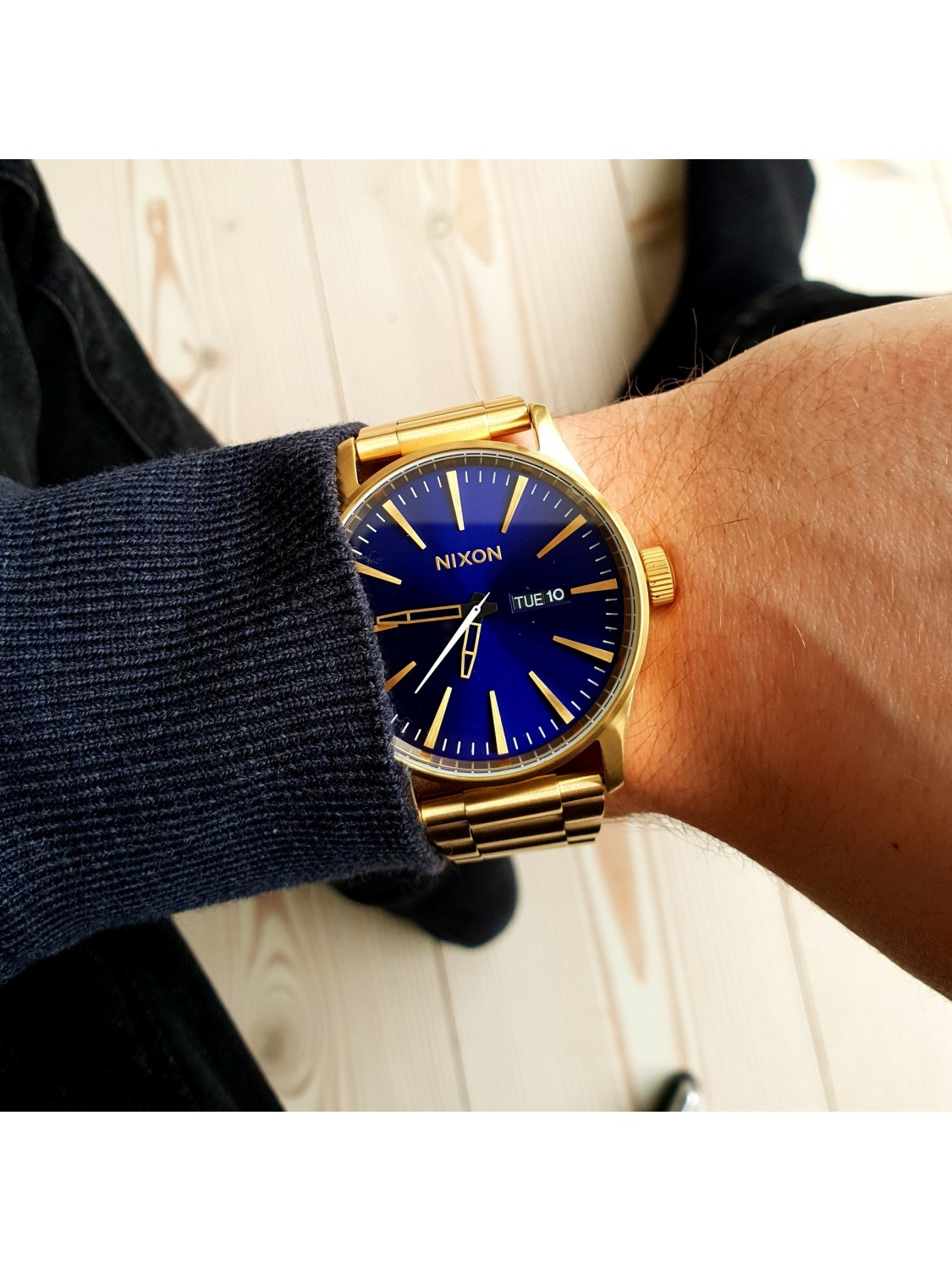 Nixon Sentry SS All Gold / Blue Sunray-31