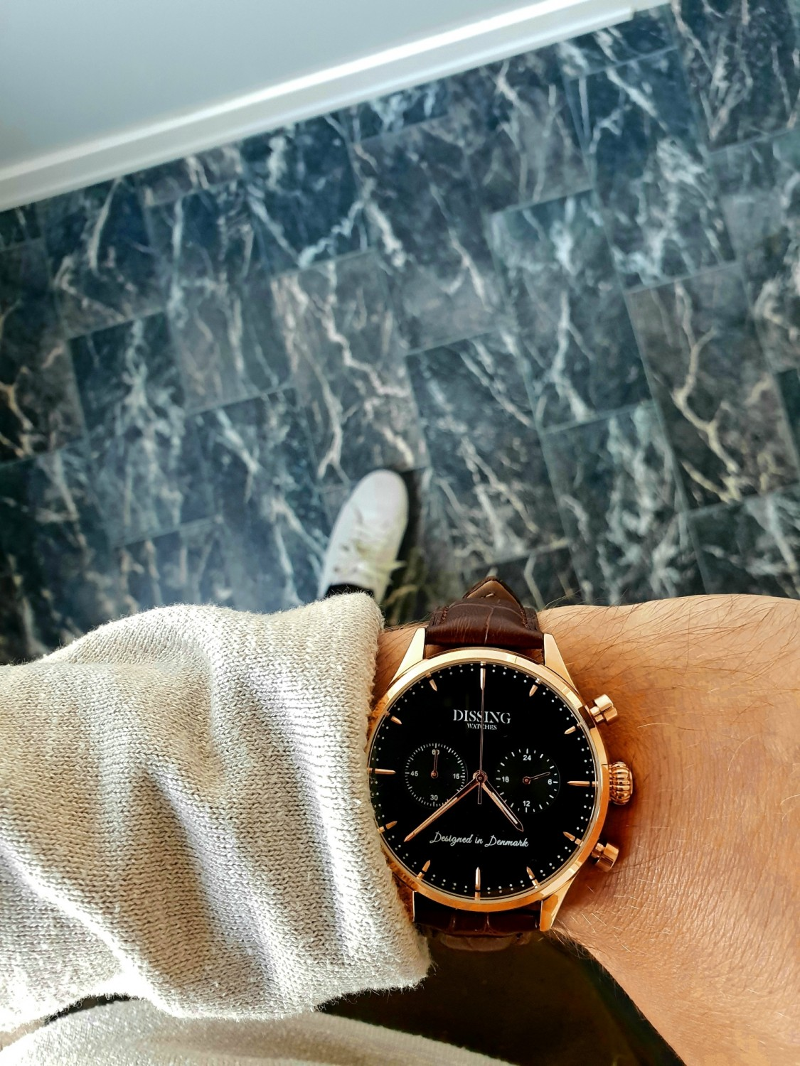 Dissing Brown Leather Gold/Black-37
