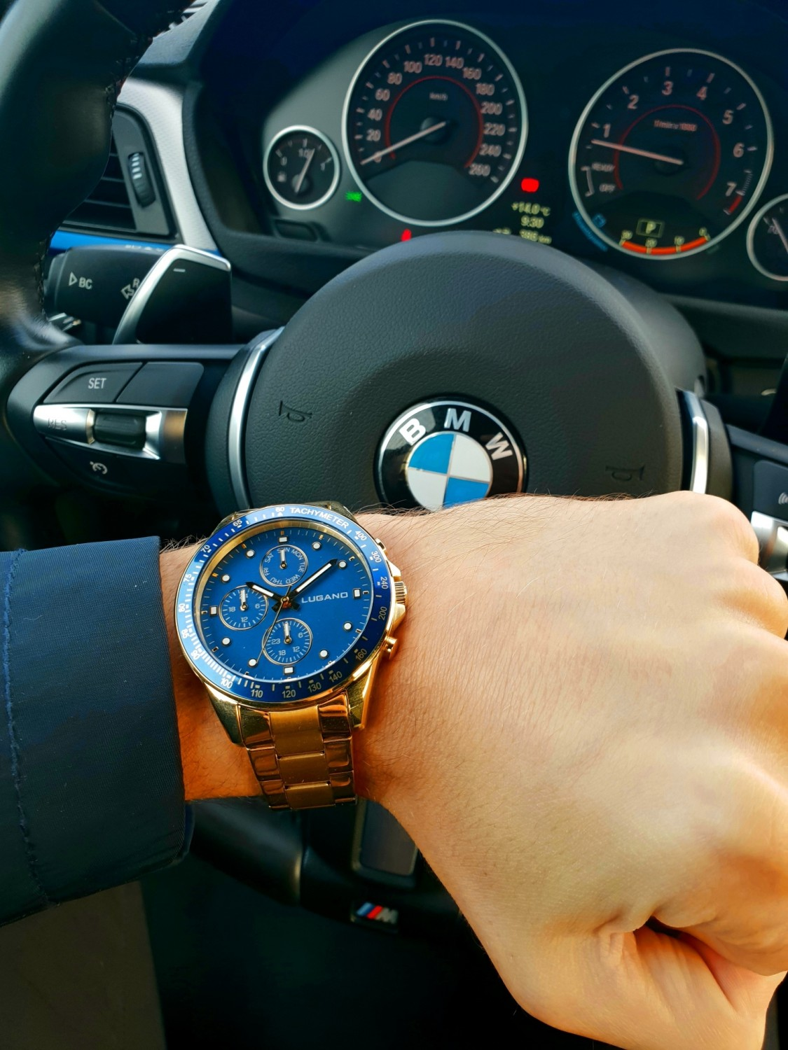 Lugano Chrono Gold/Blue-322