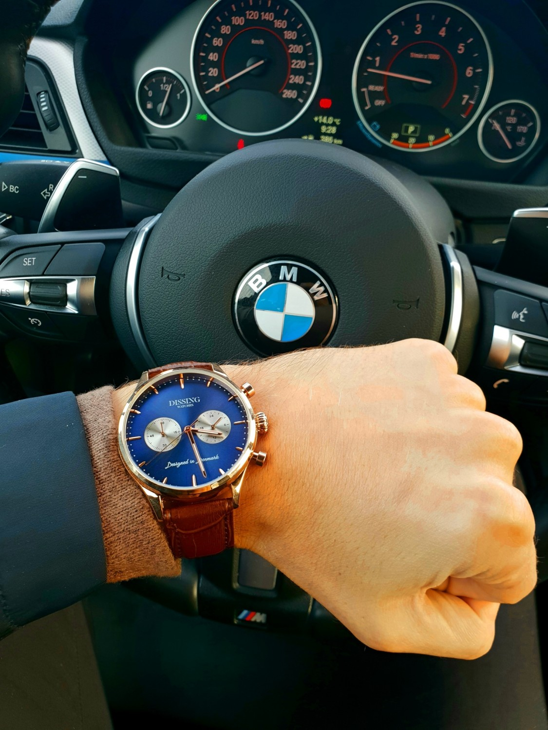Dissing Brown Leather Gold/Blue/Steel-06