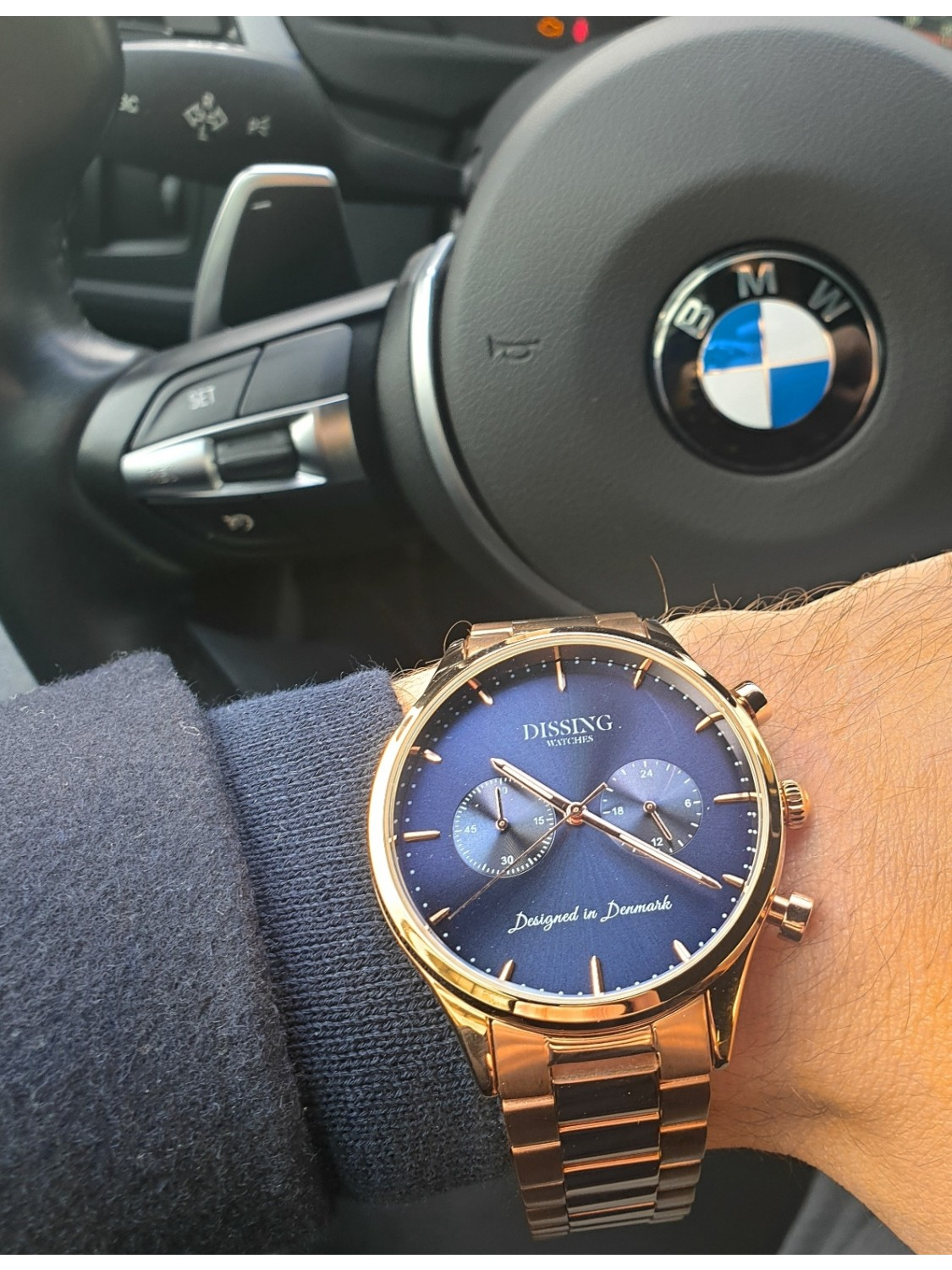 Dissing Steel Rose Gold/Blue-310