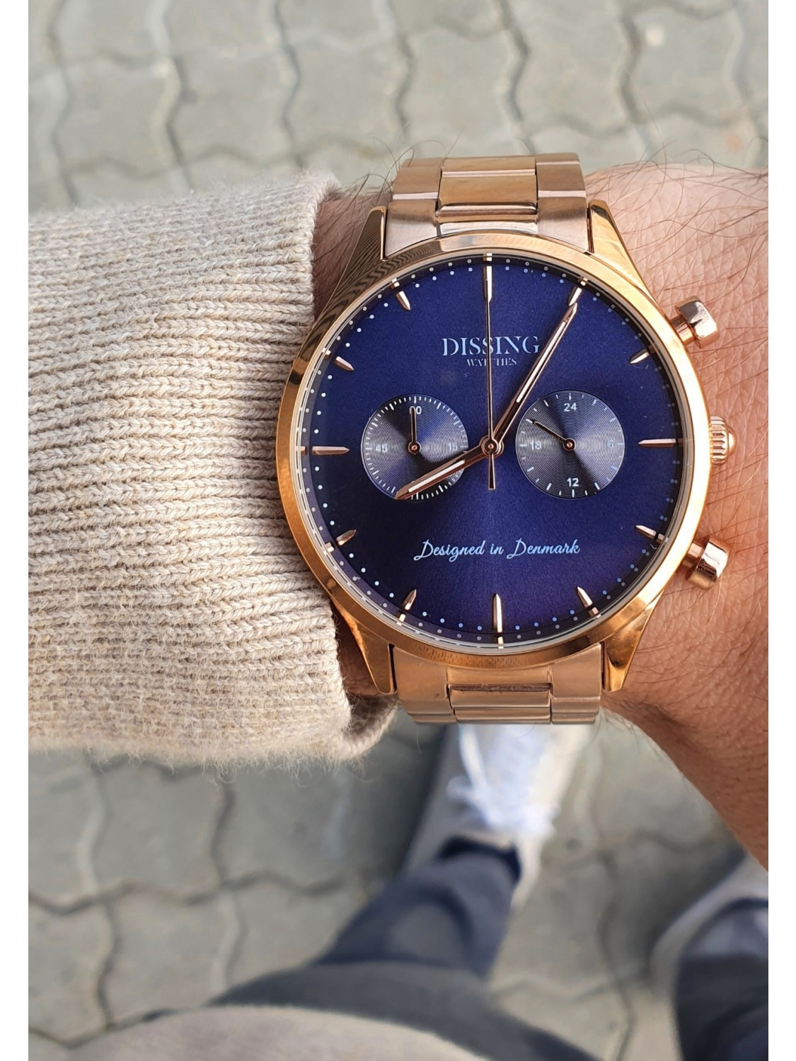 Dissing Steel Rose Gold/Blue-010
