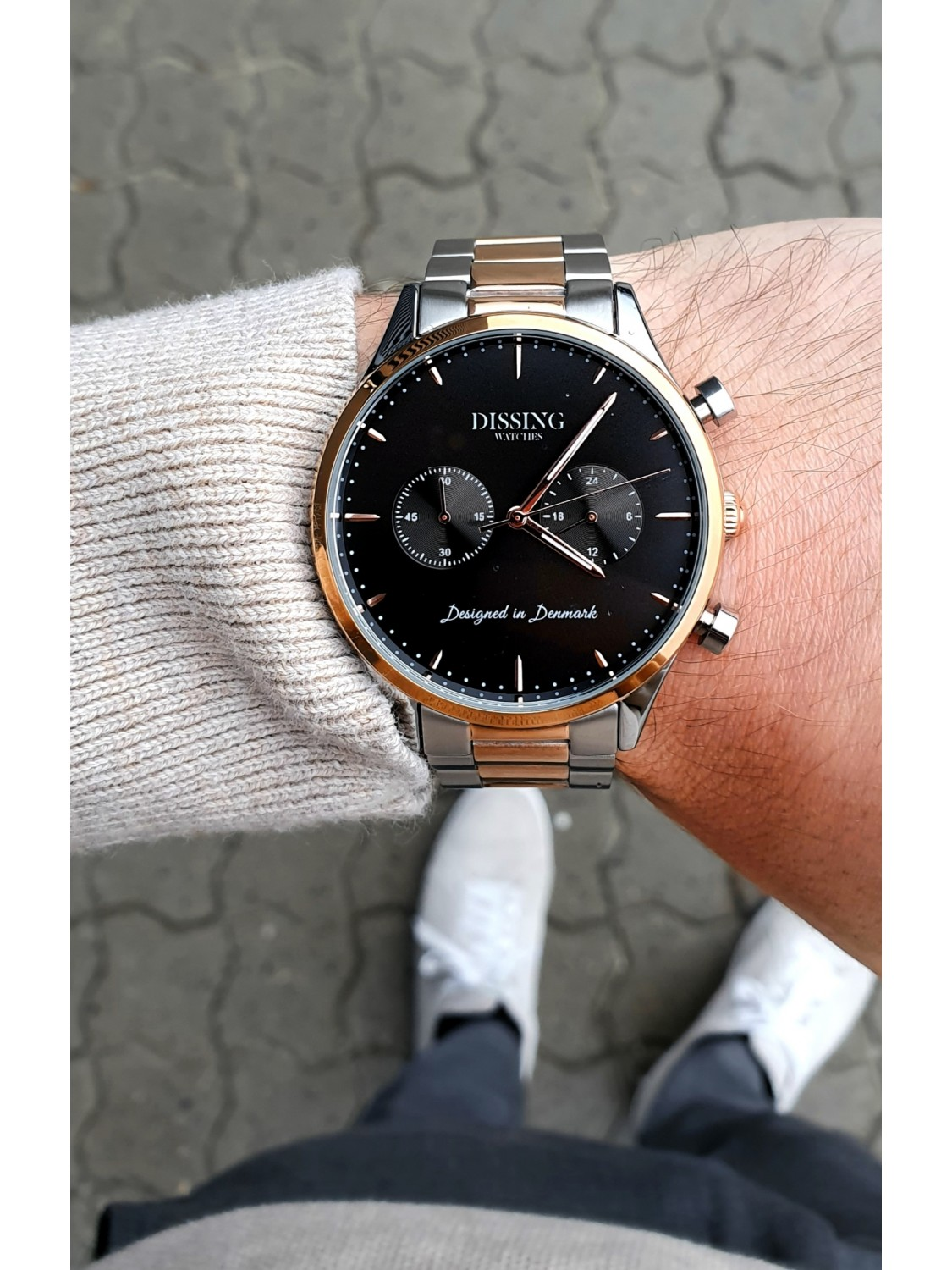 Dissing Two Tone Steel Rose Gold/Black-010