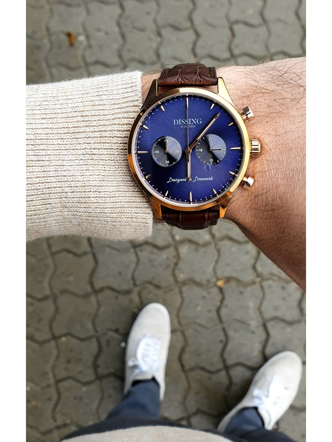 Dissing Brown Leather Gold/Blue-04