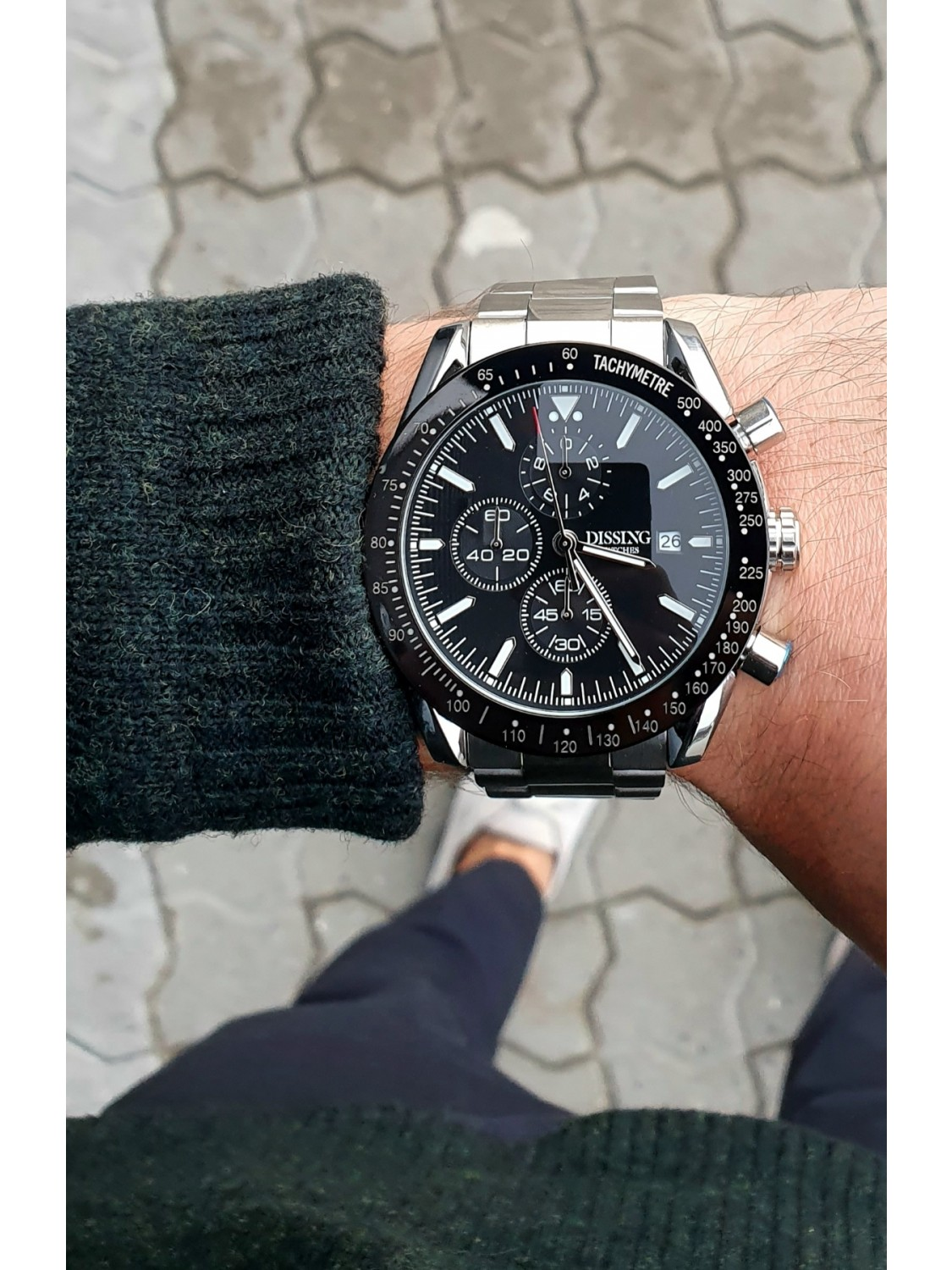 Dissing Chrono Black/Steel-014