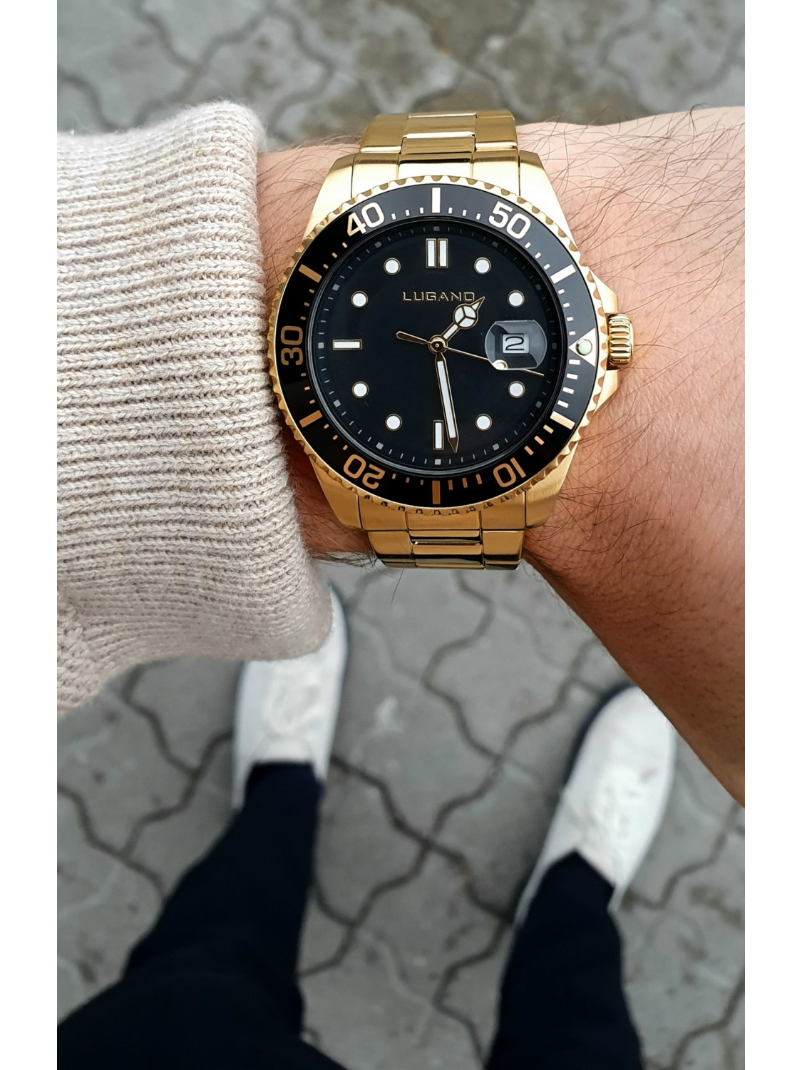 Lugano Diver Gold/Black-031
