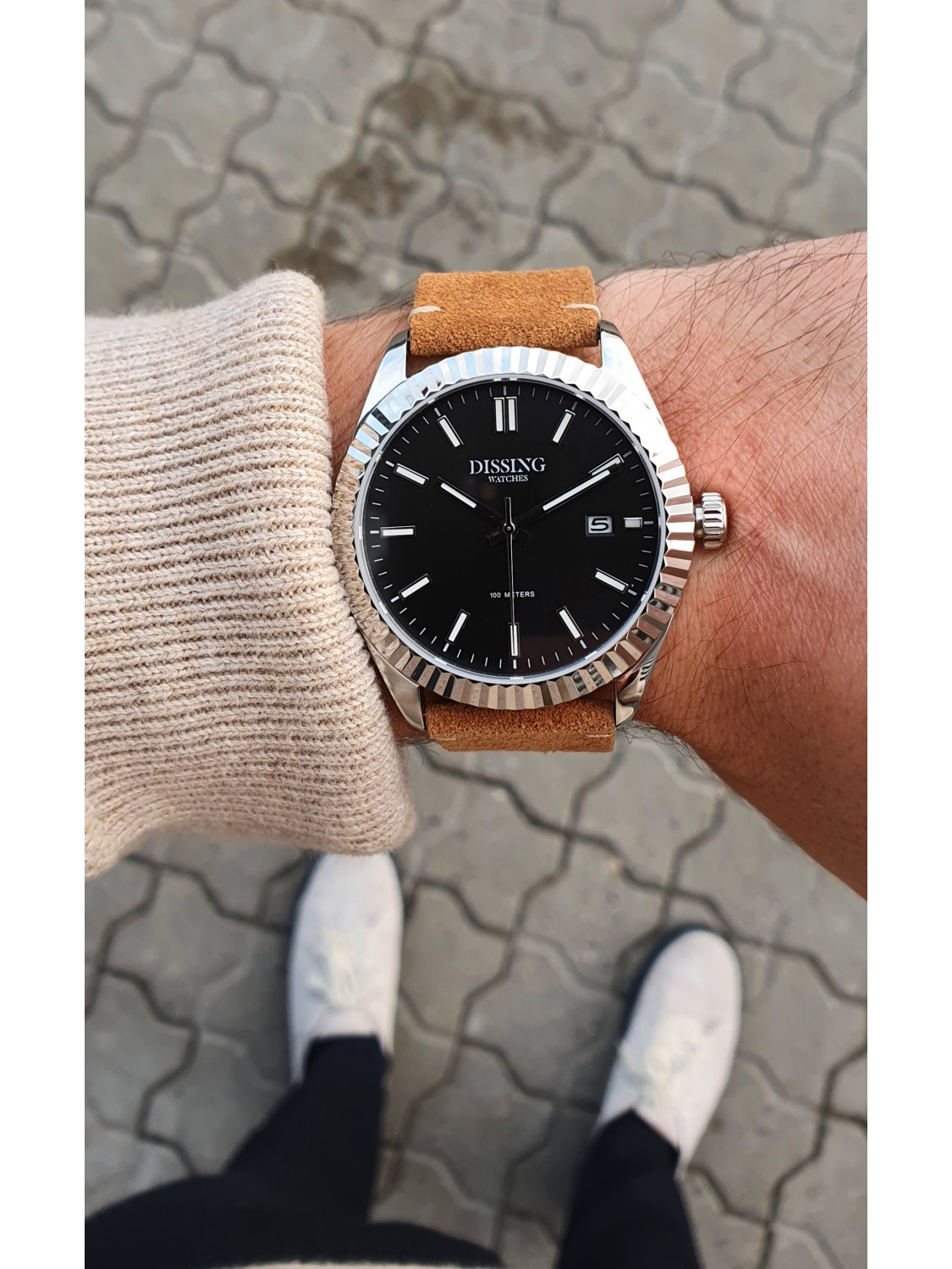 Dissing Date Leather Steel/Black-039