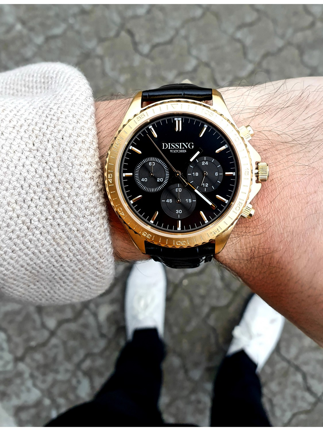 Dissing MK5 Black/Gold Leather-049