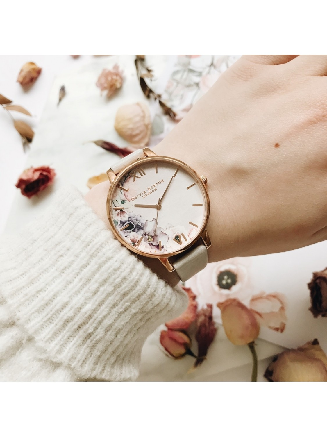 Olivia Burton Watercolour Florals Blush and Rose Gold-35