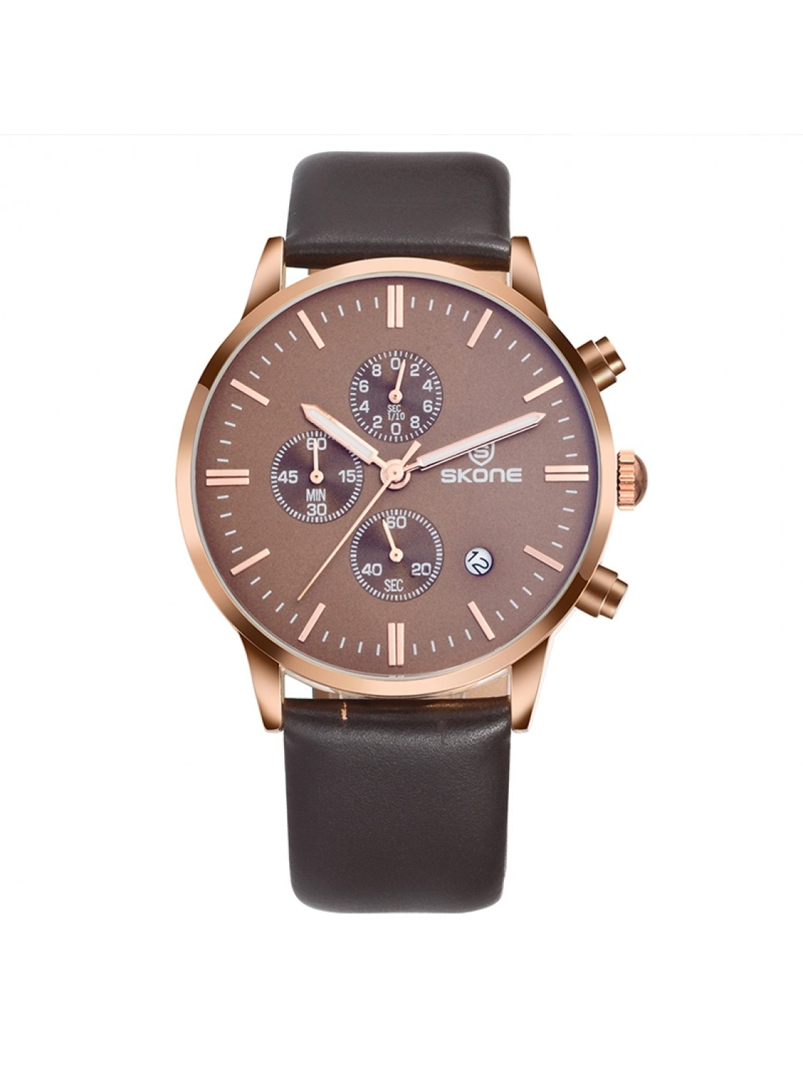 Skone Chrono Leather Brown-35