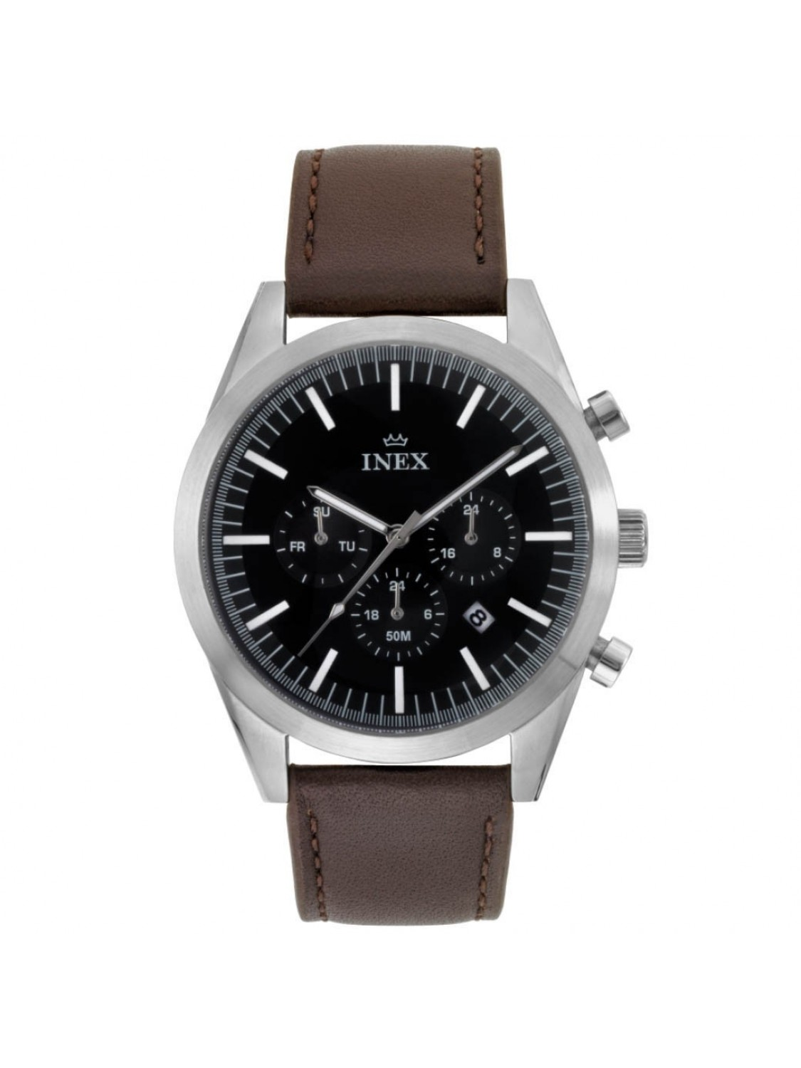 Inex Double Chrono Leather Brown-36