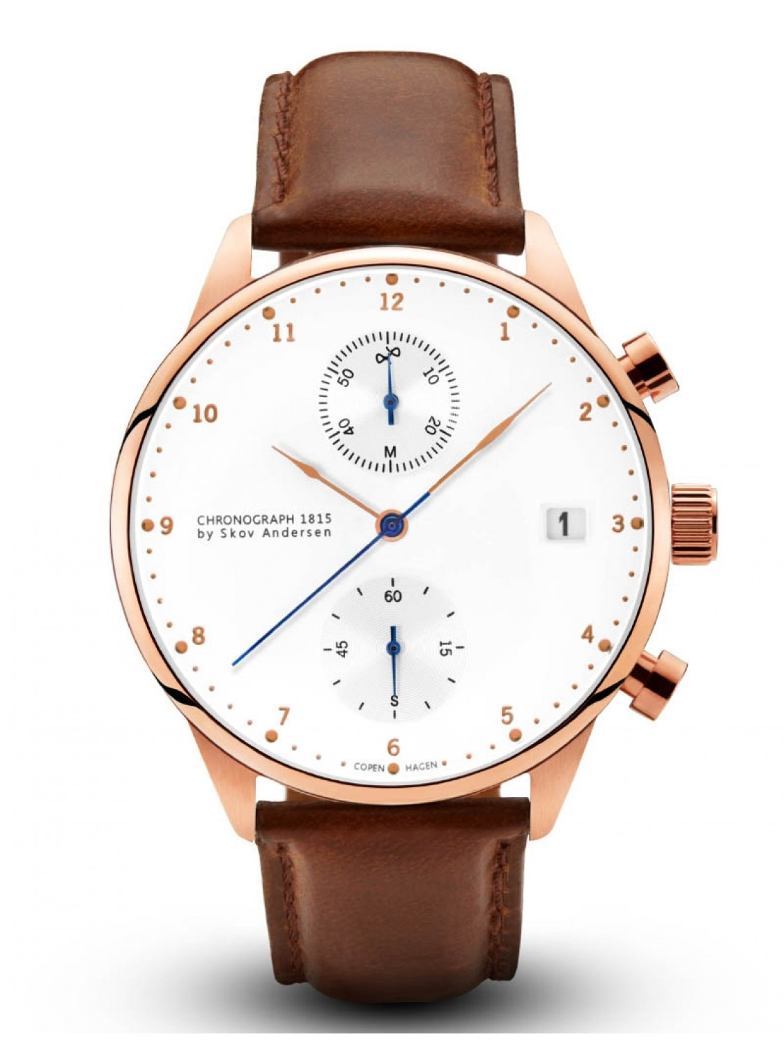 About Vintage 1815 Rose Gold Chronograph Brown Strap-36