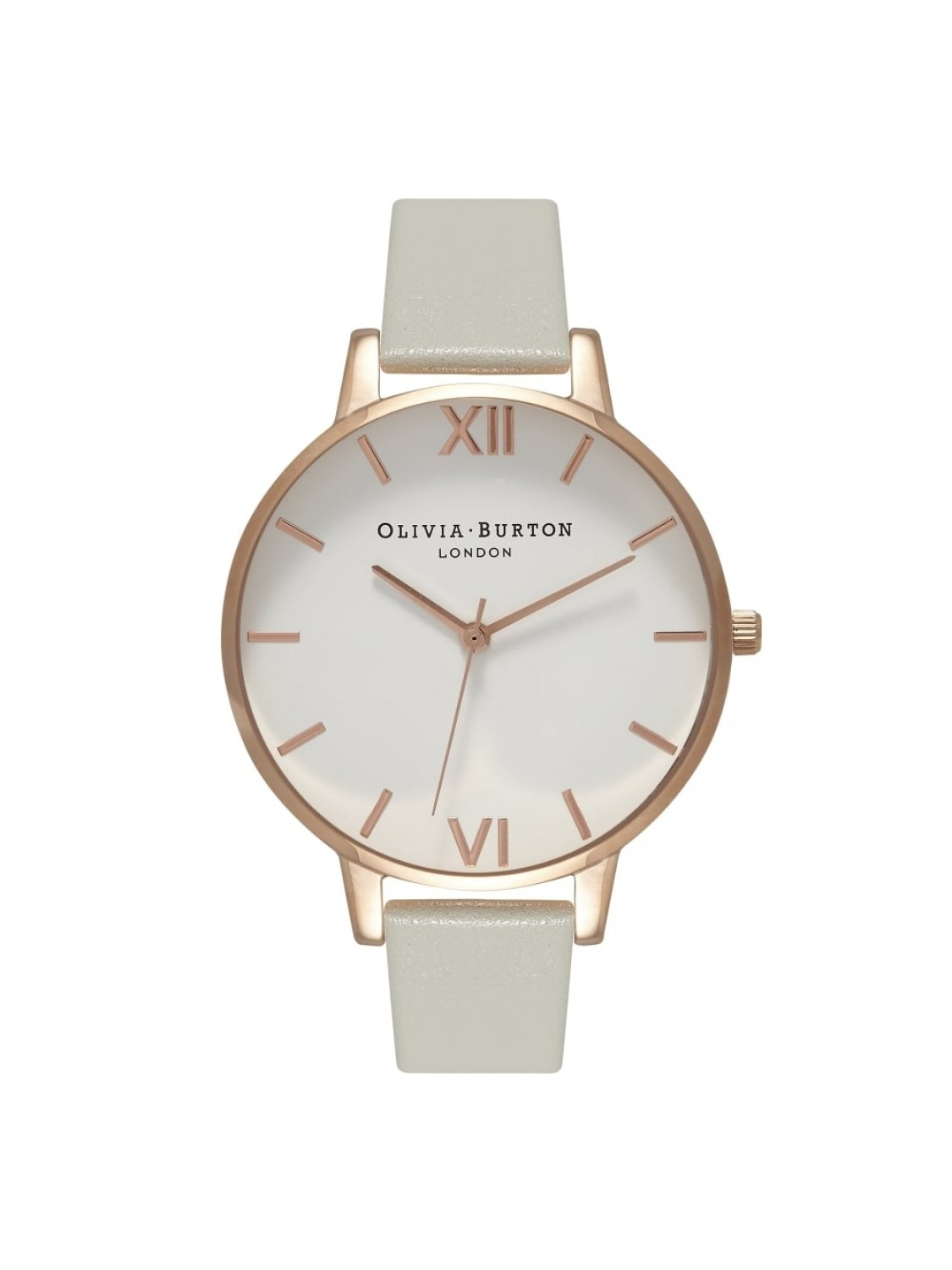 Olivia Burton Big Dial Grey and Rose Gold-01